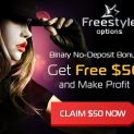 Freestyle Options Broker – 50$ No Deposit Trading Bonus and Insured Trades!